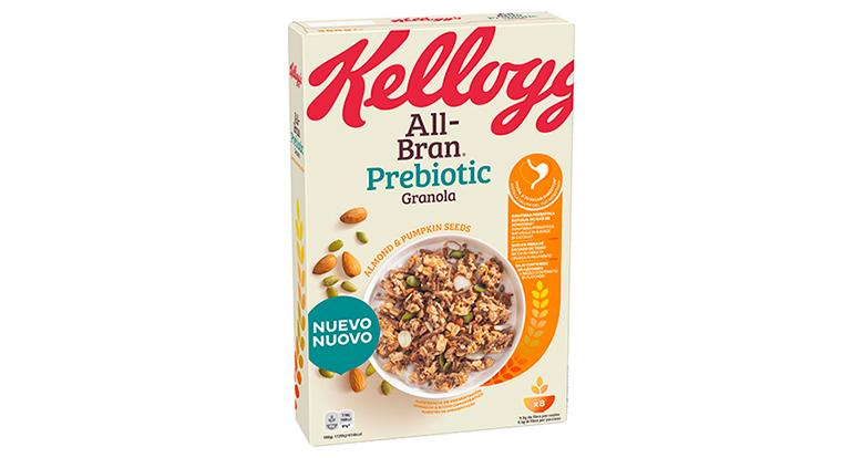 Gama de granolas de cereales con fibra prebiótica