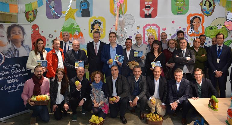 Carrefour ofrecerá fruta a los niños en las zonas infantiles de sus establecimientos