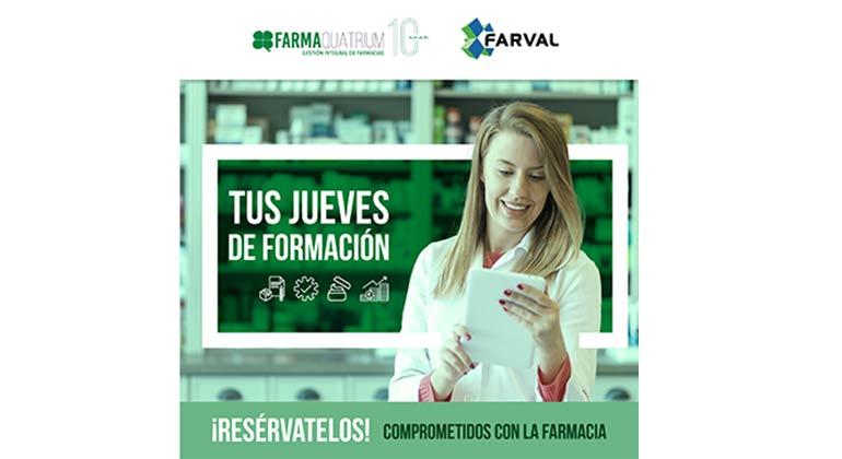 Nuevas sesiones formativas gratuitas de FarmaQuatrium y Farval
