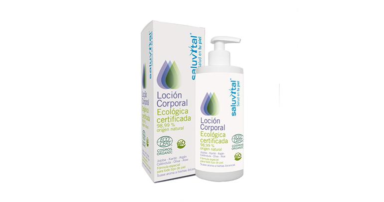 Loción corporal ecológica con certificado Ecocert en farmacias