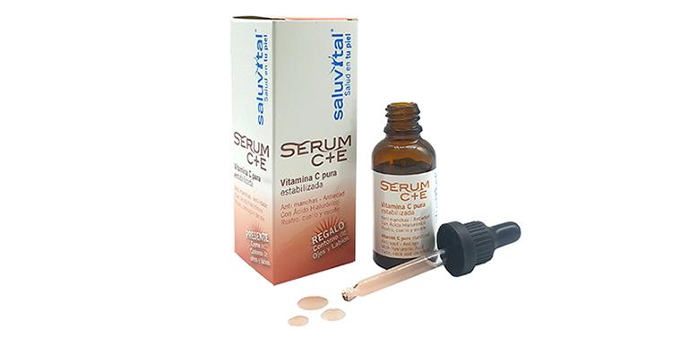 Sérum con vitaminas  C+E para una piel luminosa y reducir las manchas tras el verano