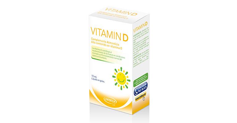 Complemento con alto contenido de vitamina D para lactantes, niños y adolescentes