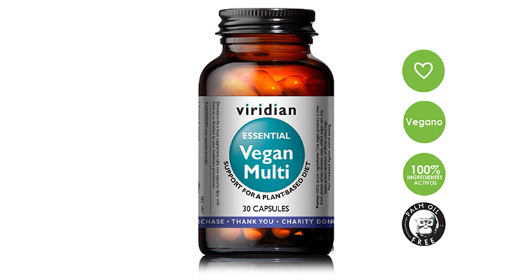Complementos  veganos con vitaminas para personas que siguen una dieta vegetal y mejorar el sistema inmune