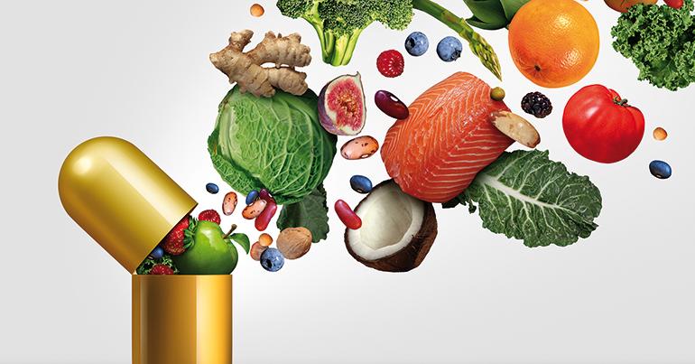 Complementos alimenticios, dietéticos