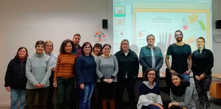 Nutricionistas valencianos imparten formación en centros educativos
