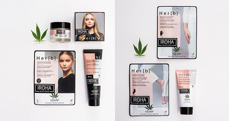 Línea cosmética con aceite de cannabis para cara y cuerpo
