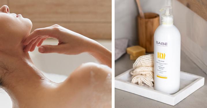 Jabón de aceite corporal creado para toda la familia y todo tipo de piel