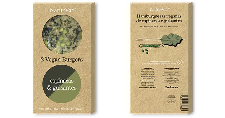 Natur Vac, hamburguesa vegana con base de soja texturizada y cocida a baja temperatura