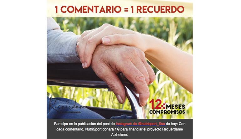 NutriSport impulsa la campaña solidaria #nuncaolvidare en favor de los enfermos de Alzheimer