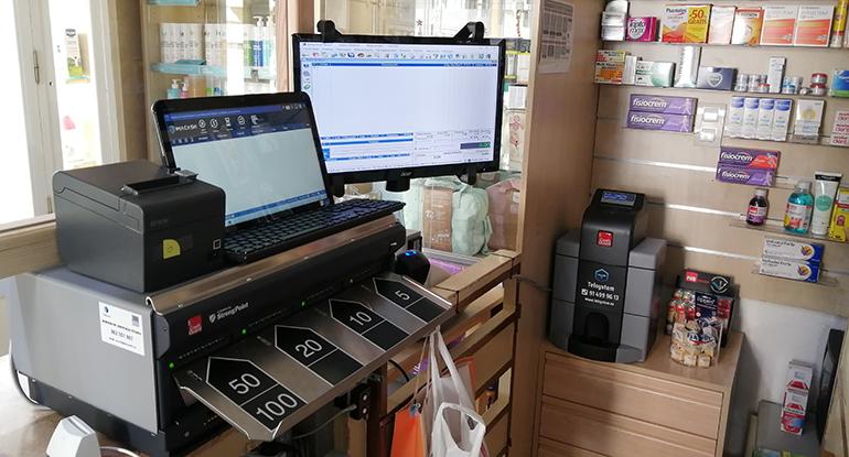 Sistema inteligente de cobro en efectivo para farmacias y comercios