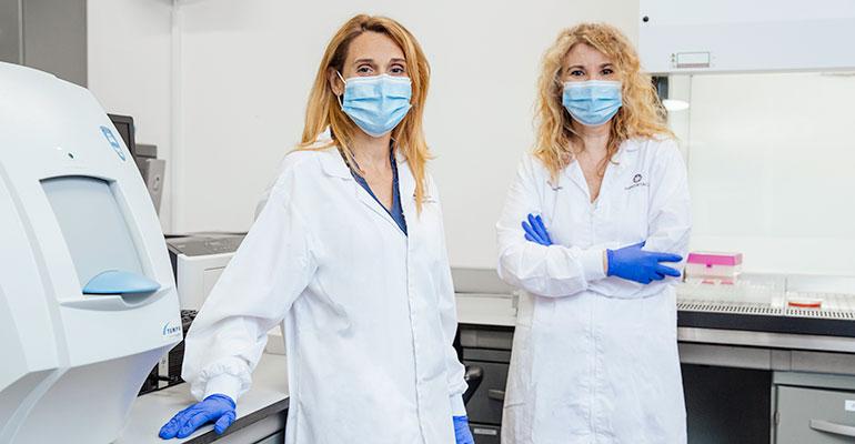Teresa Cercos y Amparo Devesa, laboratorios Importaco